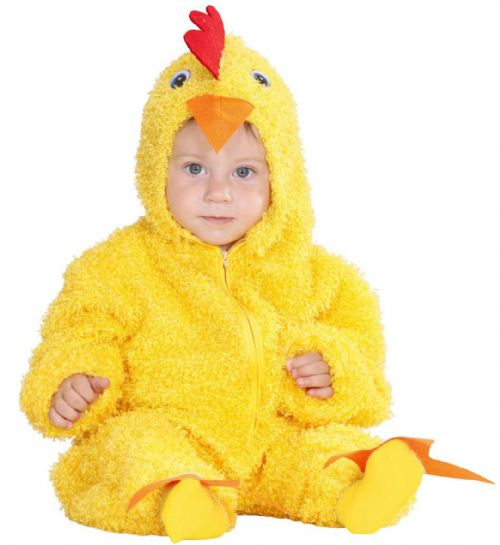 Toddler Fuzzy Chick Baby - 2 Styles Costume Animal Fancy Dress